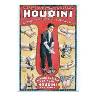 """Poster del rey publicidad de la esposas de Houdini Invitación 5"""" X 7"""""""