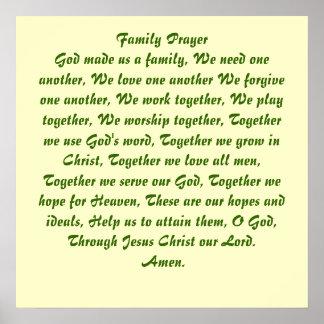 Poster del rezo de la familia