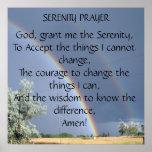 Poster del rezo de la serenidad