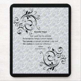 Poster del rezo de la serenidad alfombrillas de ratones