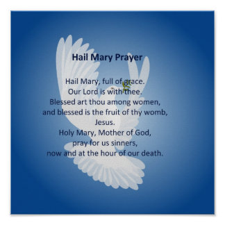 Poster del rezo de Maria del saludo