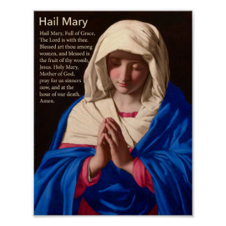 Poster del rezo de Maria del saludo Póster