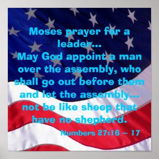 Poster del rezo de Moses