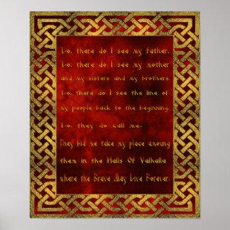 Poster del rezo de Viking Póster