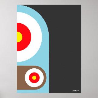 Poster del robot de la blanco
