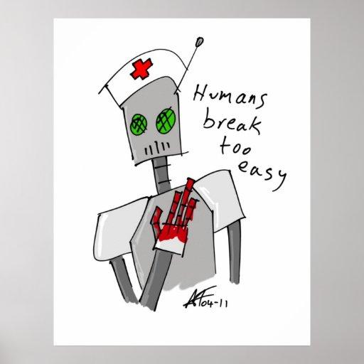 Poster del robot de la enfermera