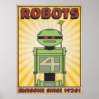 """Poster del """"ROBOT"""" del lago autumn"""