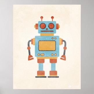 Poster del robot del vintage