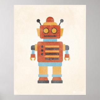 Poster del robot del vintage póster