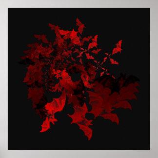Poster del rojo de los palos de vampiro