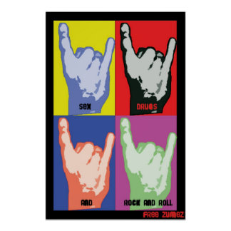 Poster del rollo de la roca   N