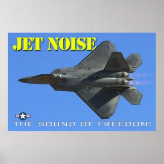 Poster del ruido del jet F-22