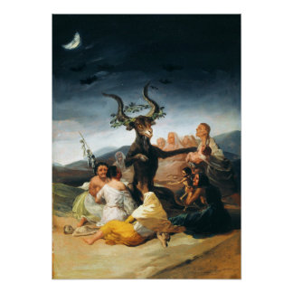 Poster del Sabat de las brujas de Goya