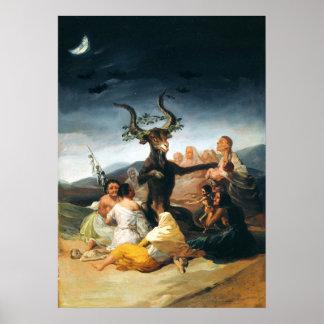 Poster del Sabat de las brujas de Goya Póster