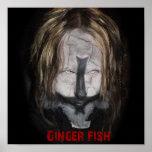 Poster del sacerdote de los pescados del jengibre