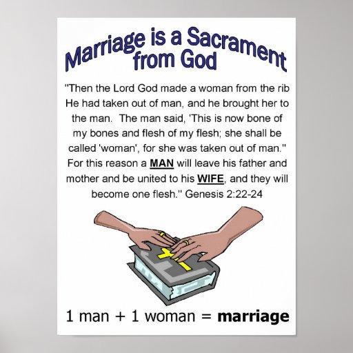 Poster del sacramento de la boda