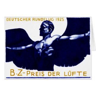Poster del salón aeronáutico de 1925 alemanes felicitacion