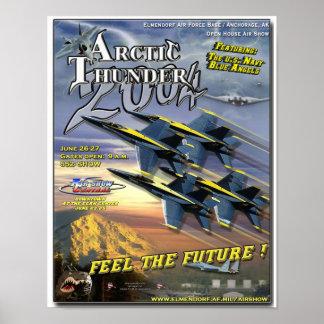 Poster del salón aeronáutico de los ángeles azules
