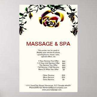 Poster del salón de belleza del masaje del