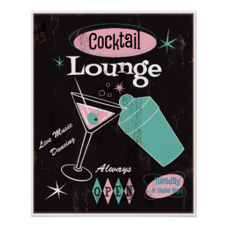 Poster del salón de cóctel