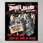 Poster del salón de cóctel de la isla del zombi