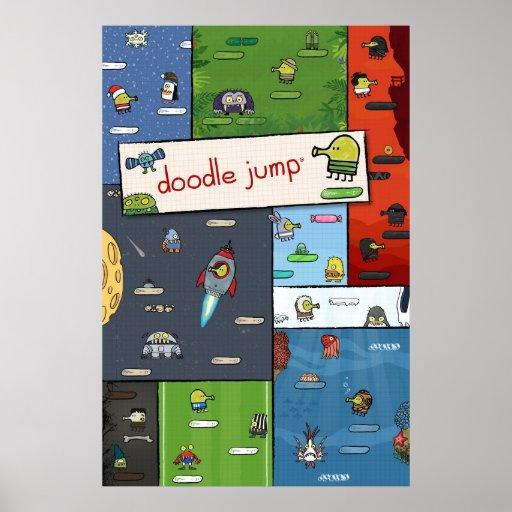Poster del salto del Doodle