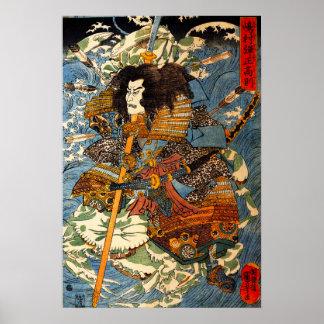 Poster del samurai de Kuniyoshi