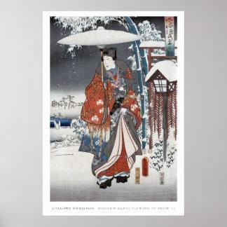 Poster del samurai de la nieve