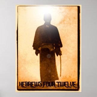 Poster del samurai del 4:12 de los hebreos