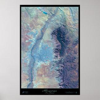 Poster del satélite de Albuquerque New México