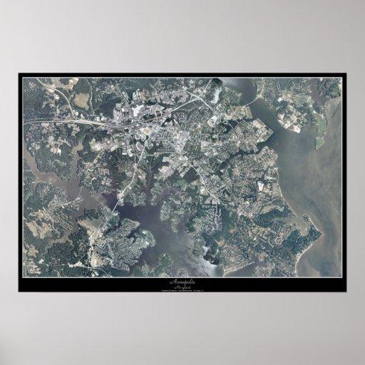 Poster del satélite de Annapolis, Maryland