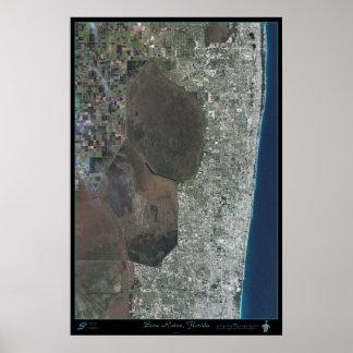 Poster del satélite de Boca Raton, la Florida