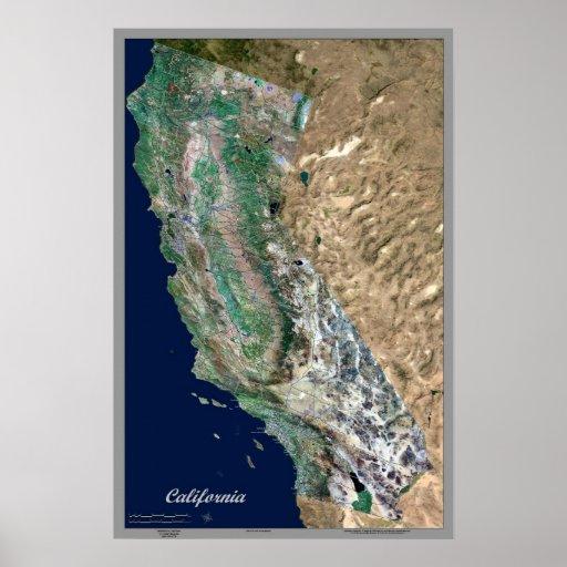 Poster del satélite de California