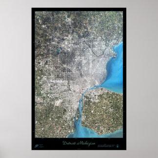 Poster del satélite de Detroit, Michigan