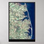 Poster del satélite de la costa de Delaware