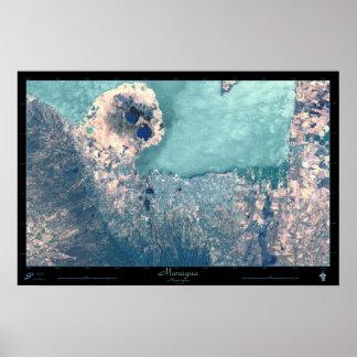Poster del satélite de Managua, Nicaragua