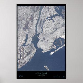 Poster del satélite de New York City, Nueva York