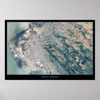 Poster del satélite de Richmond, California