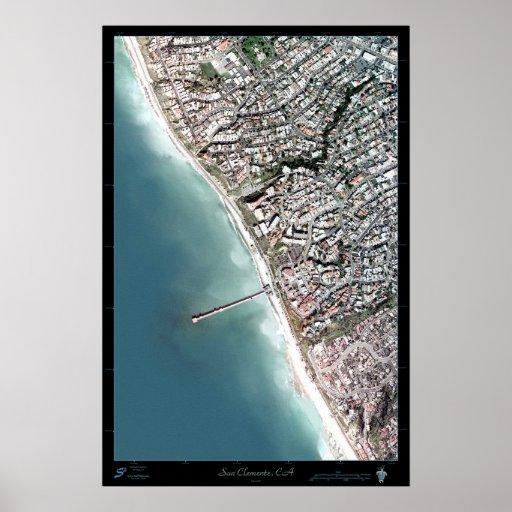 Poster del satélite de San Clemente, California