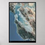 Poster del satélite de San Francisco, California