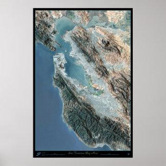 Poster del satélite de San Francisco California