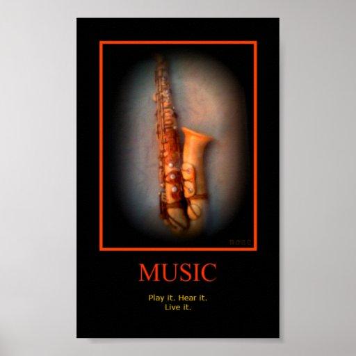 Poster del saxofón