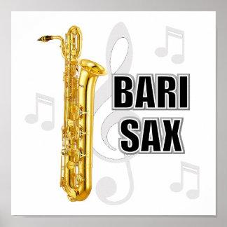 Poster del saxofón del barítono