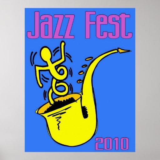 Poster del saxofón del Fest del jazz