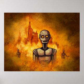 poster del scifi de la revolución del robot