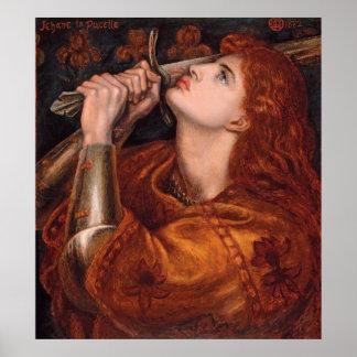 Poster del Semi-Lustre de Rossetti Juana de Arco