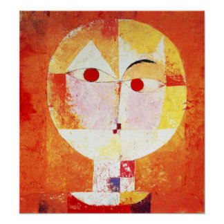 Poster del Senecio de Paul Klee