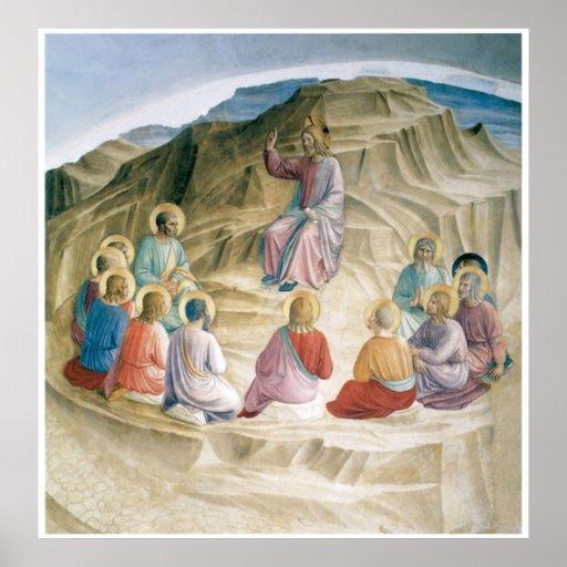 Poster del sermón de la montaña póster