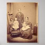 Poster del siglo XIX de la familia