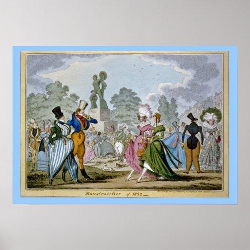 Poster del siglo XIX de la moda
